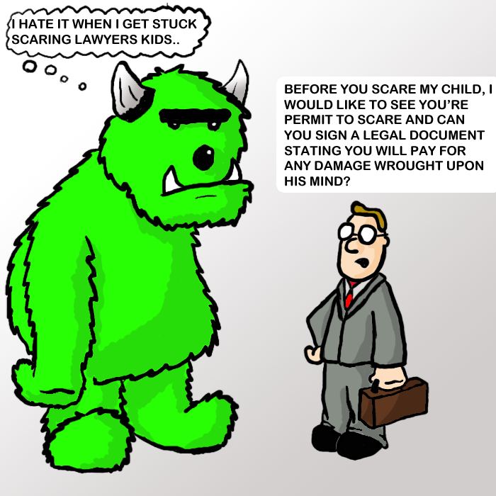 Monster and a lawyer